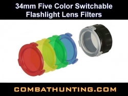 UTG 34mm Five Color Flashlight Lens Filters