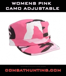 Womens Pink Camo Adjustable Cap