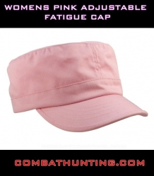 Womens Pink Adjustable Fatigue Cap