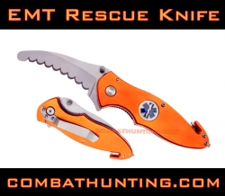 EMT Paramedic Badge Rescue Knife