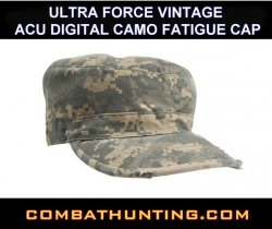 Ultra Force Vintage Acu Digital Camo Fatigue Cap