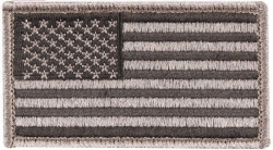 Foliage American Flag Patch Hook Loop