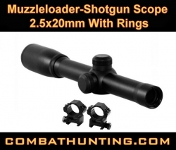 Shotgun Muzzleloader Scope 2.5x20mm With Rings
