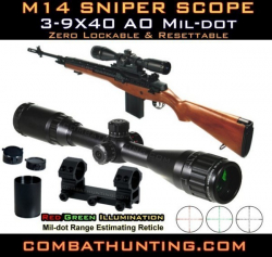 M14 Rifle Sniper Scope With Ring Mount