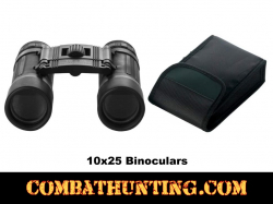 10x25 Binoculars With Case