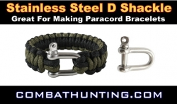 Paracord Bracelet D Shackle Stainless Steel