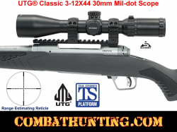 UTG® Classic 3-12X44 30mm Mil-dot Scope
