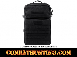 3 Day Molle Assault Backpack Black