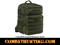 3 Day Molle Assault Backpack Military Green