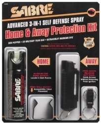 SABRE 3-IN-1 Pepper Spray Home & Away Protection Kit