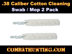 .38/35 Caliber Bore Swab Mop 2 Pack