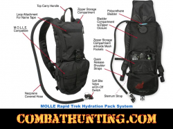 3 Liter Hydration Pack Molle Black