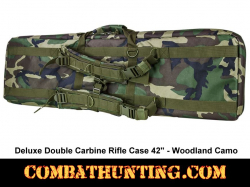 Double Carbine Rifle Case 42 Inches Woodland Camo