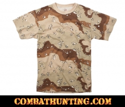 Camo T-Shirt 6-Color Desert Camo