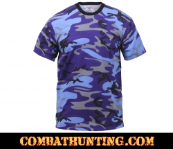 Electric Blue Military Camo T-Shirt