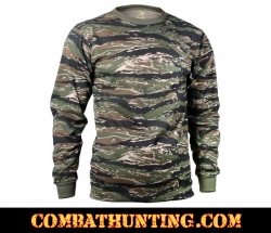Long Sleeve Tiger Stripe Camo T-Shirt