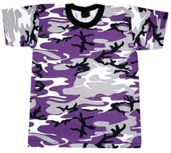 Girls Ultra Violet Camo T-Shirt Size Large 14-16