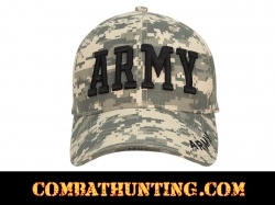 ACU Digital Camo Deluxe Army Embroidered Low Profile Insignia Cap