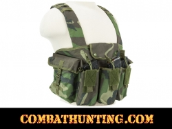AK Chest Rig Woodland Camo