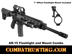 AR-15 Flashlight and Mount Combo