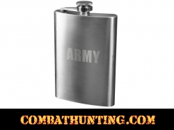 Army Engraved Flask Stainless Steel