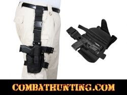 Deluxe Adjustable Tactical Drop Leg Holster Black