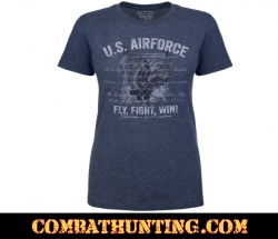 Air Force Fly Fight Win Women's Soft Spun T-shirt