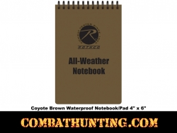 Coyote Brown All Weather Waterproof Notebook-Pad