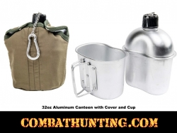 Aluminum Canteen With Cup And Cover
