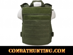 Armor Plate Carrier Vest with MOLLE Webbing Black