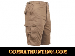 Coyote Brown Military Style BDU Cargo Shorts