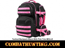 Backpack Black With Pink Trim MOLLE