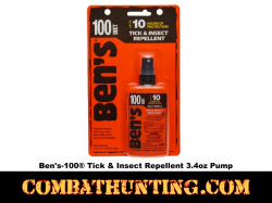Ben's 100 MAX Tick & Insect Repellent 3.4 oz