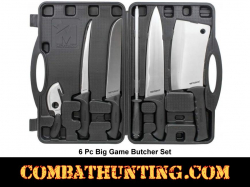 Big Game Butcher Set 6 Pc Kit with Case