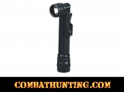 Mini Black Military Army Style Anglehead Flashlight
