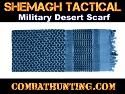 Black & Blue Shemagh Tactical Military Desert Scarf