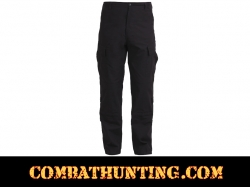 Black Army Combat Uniform Pants