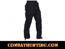 Black Vintage Paratrooper Fatigues Pants