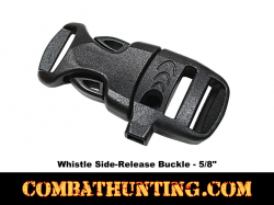 Emegency Survival Whistle Buckle Black 5/8""