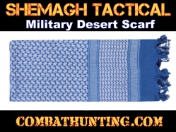 Blue & White Shemagh Tactical Military Desert Scarf