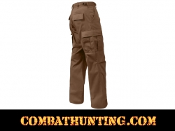Brown Military BDU Fatigue Pants