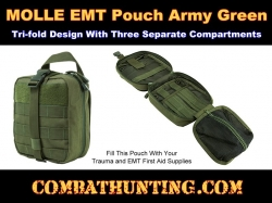 Army MOLLE EMT Pouch Green