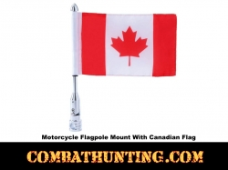 Motorcycle Flagpole Mount With Canadian Flag