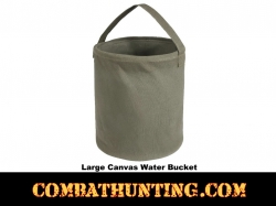 Large O.D. Canvas Emergency Water Bucket