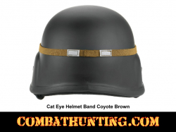 Cat Eye Helmet Band GI Style Coyote Brown