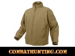 Rothco Covert Ops Light Weight Soft Shell Jacket Coyote Brown