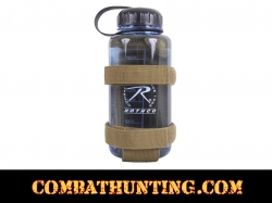 Coyote Brown Lightweight MOLLE Bottle Carrier / Holder