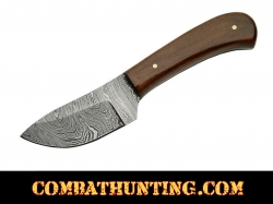 "Damascus Steel Skinner Knife 6"" With Walnut Wood Handle"