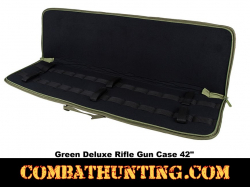 Deluxe Rifle Case Soft Gun Case 42 Inches Green
