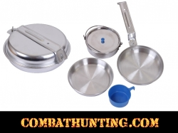 Deluxe 5 Piece Mess Kit Polished Aluminum